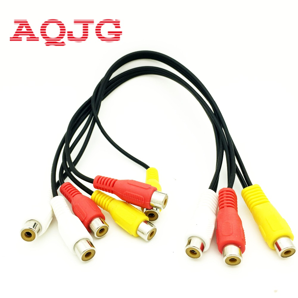3rca Female To 6 Rca Female Cable High Quality Y Splitter