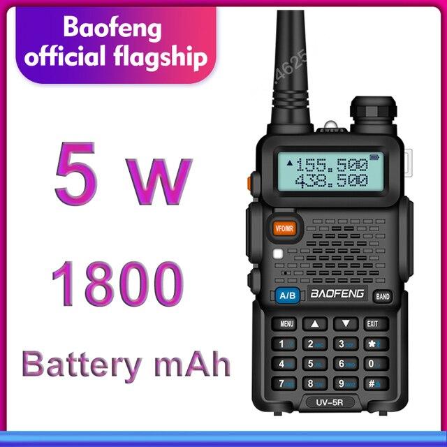 $TERM impacto BaoFeng walkie talkie UV 5R radio de dos vías versión de actualización uv5r 128CH 5 W VHF UHF 136 174 Mhz y 400 520 Mhz múltiples combinaciones