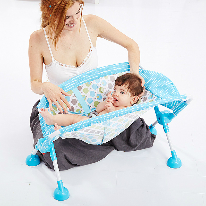 Aluminum Alloy High Legs Baby Bath Chair Folding Tub Baby Shower ...