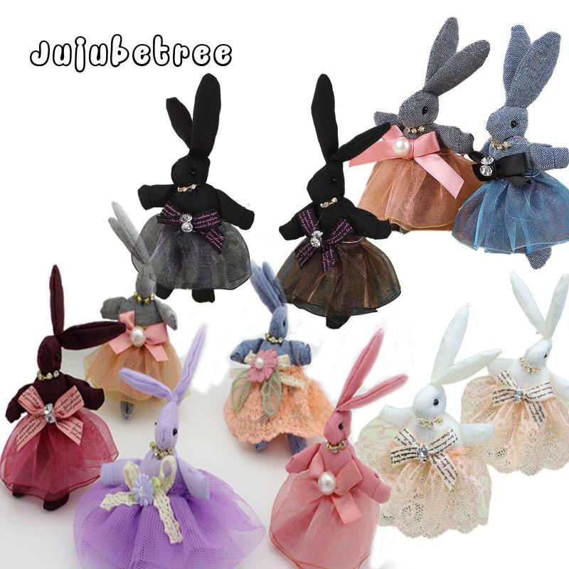 Stuffed Dolls Toys Pendant Weddings-Decor Rabbit Small Children for DIY Mixed-Colors