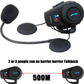 500 M motocicleta motocross Motocicleta casco auricular bluetooth Multiestéreo Interphone del intercomunicador