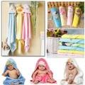 2016 Nova 100% algodão Bonito dos desenhos animados do bebê material de bebê recém-nascido hold cobertor envoltório do bebê de pano macio toalha confortável toalha de banho 75