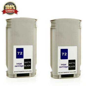 2 PCS MBK MK ink cartridge replace for hp 72 Designjet T1100 T1100S T1100MFP T610 T770 T790 T1120PS T1120