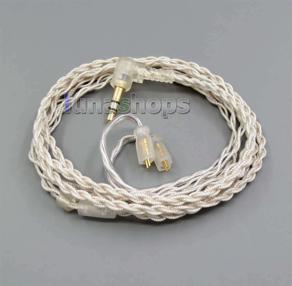 With Earphone Hook Silver Foil PU Skin Cable For Ultimate Ears UE TF10 SF3 SF5 5EB 5pro TripleFi 15vm LN005319