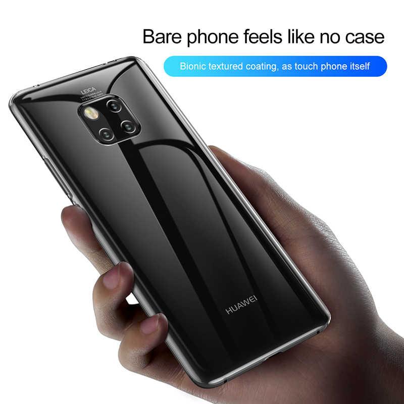 Baseus роскошные металлизированный чехол для телефона для huawei P30 Коврики 20 Pro Чехол прозрачный чехол-накладка на заднюю панель из силикона и мягкого ТПУ с крышкой для huawei P30 P30Pro Funda
