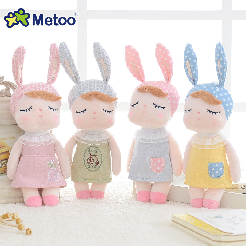 Metoo Doll Stuffed Toys Plush Animals Soft Baby Kids Toys for Children Girls Boys Kawaii Mini Angela Rabbit Pendant Keychain 3 pusheencat plush toys donuts cat with food style plush pendant keychain soft stuffed animals toys doll for kids children gift