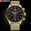 2017 Style Fashion Watches Super Man Luxury Brand CURREN Men Watch Full Steel Fashion Quartz-Watch Casual Male Sports Wristwatch