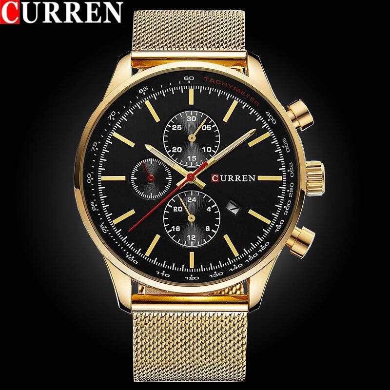 c8fe60e3f82 2017 relógios de moda estilo super homem marca de luxo curren homens relógio  de aço cheio de moda relógio de quartzo-casual masculino esportes relógio  de ...