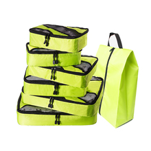 6 Set Packing Cubes for Travel - Luggage & Suitcase Organizer Cube Set(Grey)(Red)(Green) Overnight Bag Duffle Bags Weekend