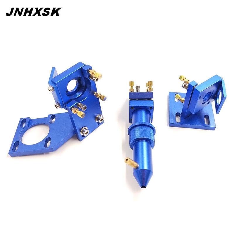 CO2 Laser Head Set / Reflective Mirror & Focusing Lens Integrative Fixture Mount Holder For Laser Engraver Cutting Machine Parts