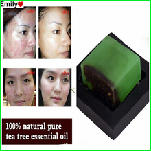 Powerful Acne Remover 100% Pure Tea Tree Essential Oil Soap Acne Treatment And Remove Whelk Shrink Pore Face Care Facial Soap