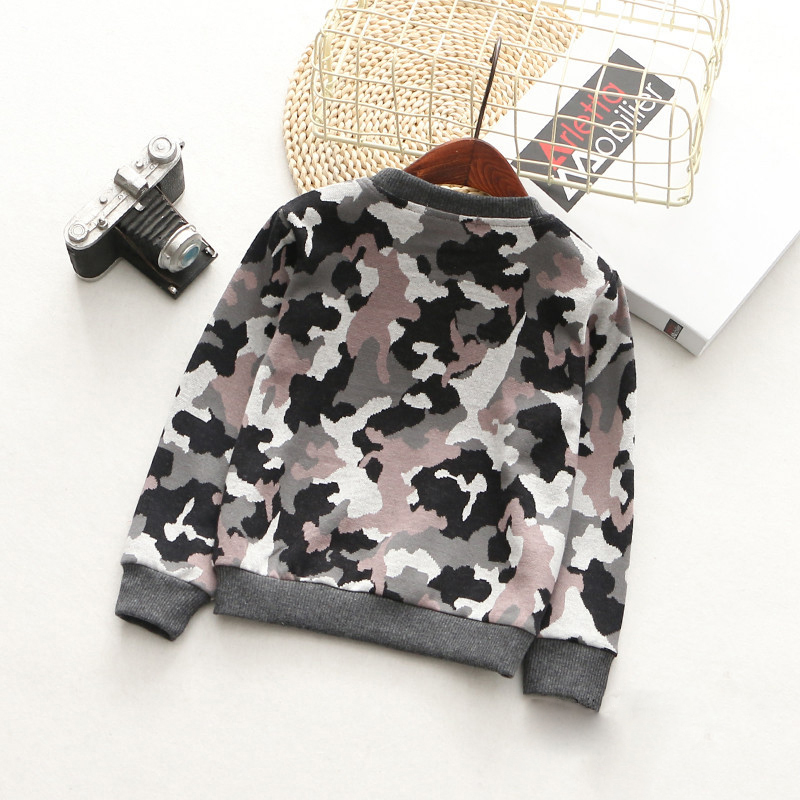 T-Shirts For Boys Girls Camouflage Cotton Kids Top Long Sleeve Toddler Pullover Clothes Digital Print T-Shirt Children Clothing (8)