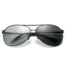 2019 New Sunglasses Men Business Concise Style Polarized Photochromic Pilot Driving Chameleon Change Color UV400