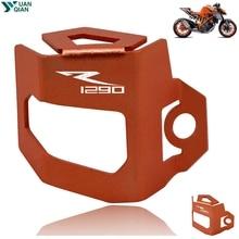 цена на For KTM 1290 Super Duke R Motorcycle Rear Brake Fluid Reservoir Guard Cover Protect For 1290 super duke R