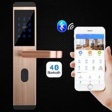 Smart Door Lock Bluetooth APP Remote Control / Password Key Card Multifuctional Security Electronic Intelligent