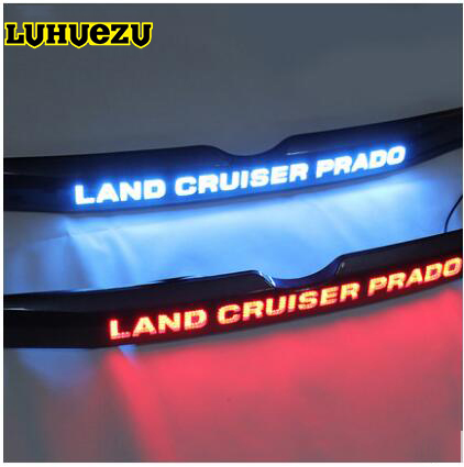 For Toyota Prado 150 Land Cruiser Prado FJ150  Accessories LED light System Chrome Rear Trunk Lid Cover Toyota Land Cruiser