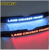 For Toyota Prado 150 Land Cruiser Prado FJ150 Accessories LED light System Chrome Rear Trunk Lid Cover