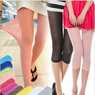 2013 female thin meat silk gauze legging women's candy color stockings pencil pants
