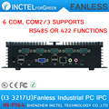 Fiscal end aluminum fanless Embedded Computer with I3 3217U 6COM 4G RAM onboard 2 Intel Lan support Wake on LAN dual 24BIT LVDS
