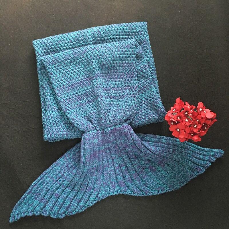CAMMITEVER 19 Colors Mermaid Tail Blanket Crochet Mermaid Blanket For Adult Super Soft All Seasons Sleeping Knitted Blankets