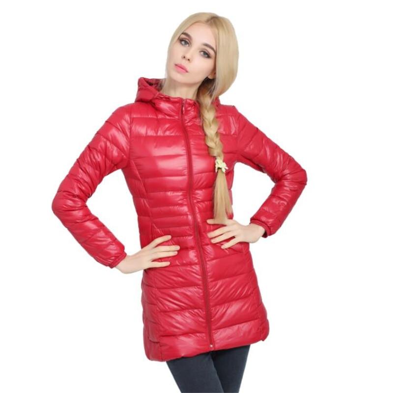 New Winter White Duck Down Jacket Women Autumn Casual Slim Warm   Parka   Female Ultra Light Thin Jacket   Parkas   Hood Coat 6XL 7XL
