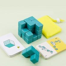 מונטסורי חינוכי ילדי צעצועי פאזל משחק עבור Exericising ילדי החשיבה המרחב וידות על יכולת