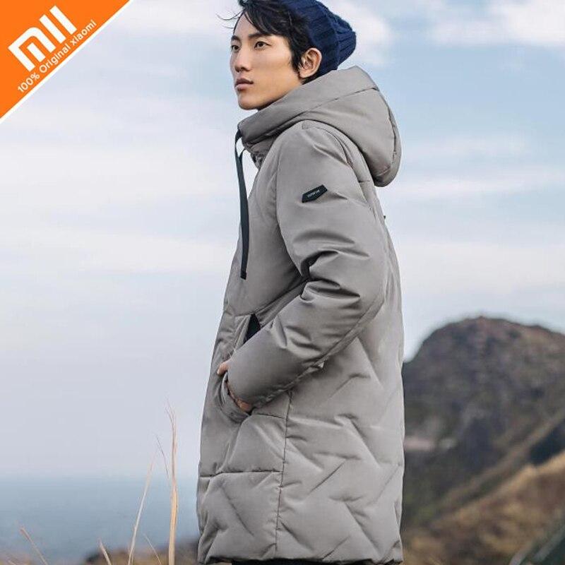 Xiaomi norma mijia 90 punto Senza Soluzione di Continuità tridimensionale farcito giù giacca 90% piume d'anatra Bianca di Medio e lungo di disegno con cappuccio caldo caldo