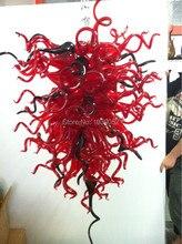 Beautiful red and black handmade blown glass chandelier lighting (BGC20119)