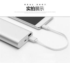 Image 3 - 22/32 cm Original xiaomi powerbank câble Micro USB court câble de données de charge pour batterie externe câble Android microUSB câble de câble