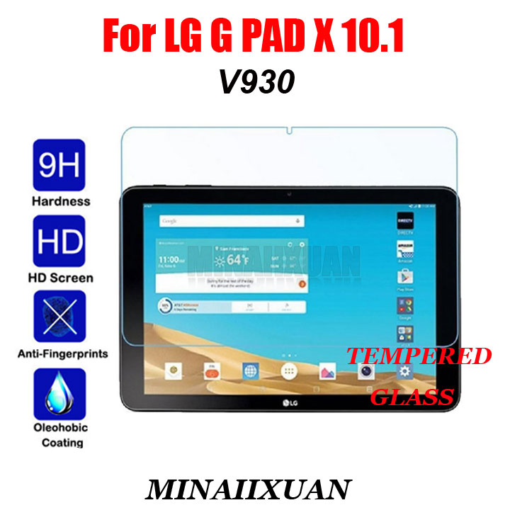 9H Hardness Tempered Glass Transparent Film For LG G PAD X 10.1 V930 Explosion-Proof Tablets LCD Screen Protector Guard