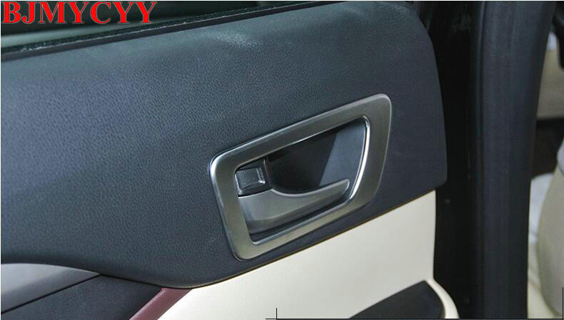BJMYCYY For 2014 2015 Toyota Highlander Kluger XU50 ABS Chrome Inner Door Handle Frame Cover Door bowl styling Accessories