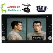 Android 6.0 Car DVD Player double two 2Din Car Stereo gps headunit multimedia player GPS Navigation FM Radio WiFi Dual Camera