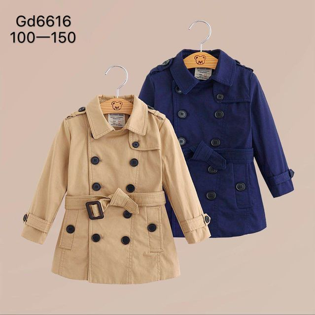 3066b0a6c0da 2018 autumn and winter new boys and girls double breasted European ...