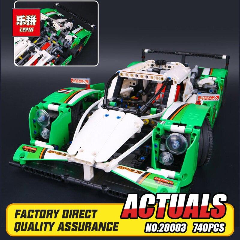 IN STOCK NEW 1249PCS LEPIN 20003 Technic Series The 24 hours Race Car Building Assembled Blocks Bricks Enlighten Toy 42039 1 24 00750 assembled model car mclaren f1 gtr 1998 le