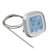 Kitchen Digital Thermometer With Food Probe Timer Touchscreen Instant Read Meat Cooking Tool BBQ Oven Grill