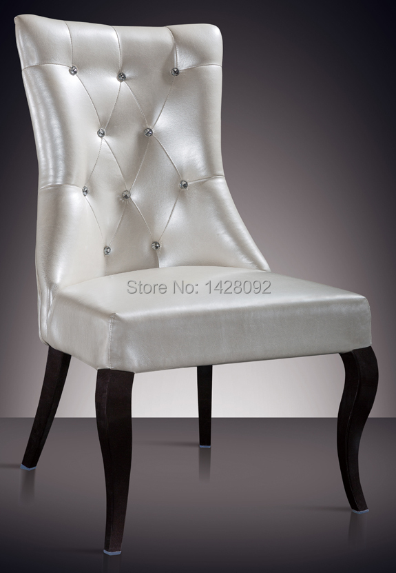 Beautiful European And American Style Comfortable White Upholstered Hotel Lobby Chair  LQ L8001(China)