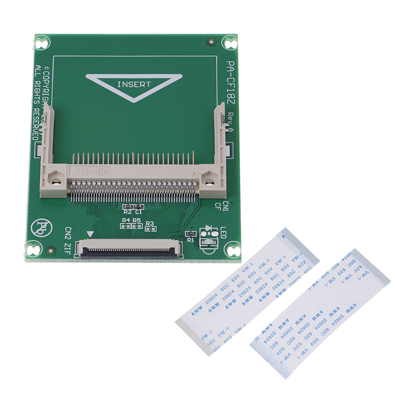 1.8-inch 50-Pin Compact Flash CF Memory Card To ZIF/CE Adapter SSD HDD Adapter Card