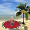 Nuevo verano gran chal de gasa toallas de playa piscina redonda sandía impreso moda hogar ducha paño de tabla estera de yoga manta bufanda