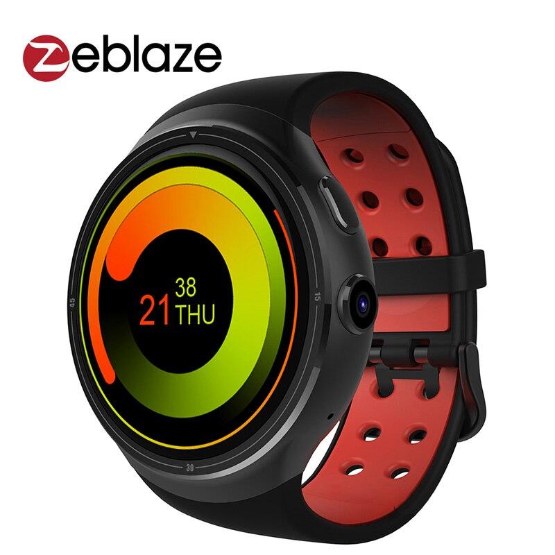 Galleria fotografica Zeblaze THOR 3G Astuto Della Vigilanza 1.4 pollice Super AMOLED 400*400 Glass3 CORNING Gorilla 1 GB + 16 GB GPS del telefono <font><b>smartwatch</b></font> reloj inteligente