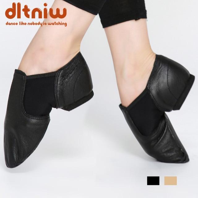 Phiếu mua hàng nữ Jazz Trơn Trượt trên Giày Bít Sabo Da Thật Chính Hãng Da Nhảy Múa Giày cho Nam Người Lớn Trẻ Em Bé Gái thể thao Giày Jazz giày khiêu vũ