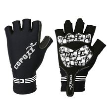 1 Pair COPOZZ GLV-1055 Outdoor Half-finger Impact Resistant Ventilative Cycling Gloves