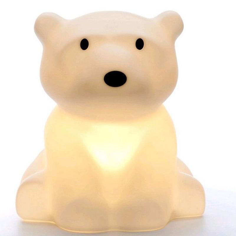 все цены на Explosion Models Of Children Room Lamp Home Furnishing Led Polar Bear Night Light Decoration Factory Direct  Pvc Holiday Novelty онлайн