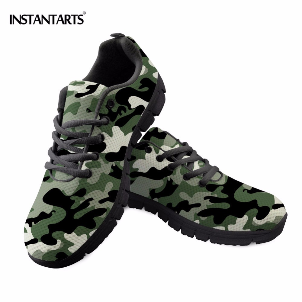INSTANTARTS Man Running Shoes Men Athletic Trainers Camouflage Sneakers Women Summer Outdoor Sports Gym Walking Jogging Shoes