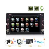 2 din Android, wince Универсальное автомобильное радио 2din gps DVD мультимедиа для Nissan pathfinder Xtrail VW Polo Golf Toyota hyundai