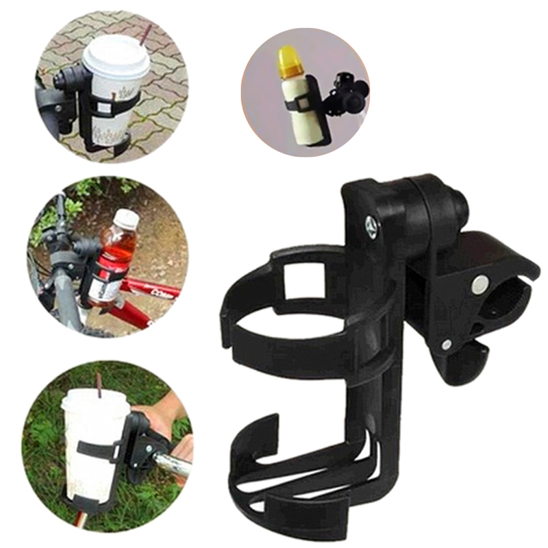 Baby Stroller Bottle Holder Universal Rotatable Parent Console Organizer Cup Holder Baby Stroller Accessories