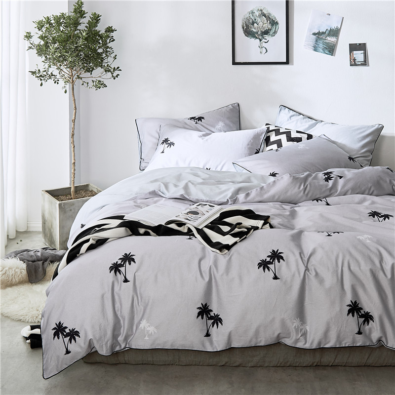 Home Textile Summer Bedding Set Duvet Cover Set Geometric Bed Set 3/4pcs Bed Set Brief Bed Linen Duvet Cover+Bed Sheet Set  SoftHome Textile Summer Bedding Set Duvet Cover Set Geometric Bed Set 3/4pcs Bed Set Brief Bed Linen Duvet Cover+Bed Sheet Set  Soft