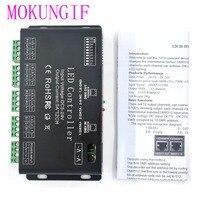 DC5V 24V 12Channel 12CH RGB DMX512 LED controller DMX decoder&driver LED strip module black 5A