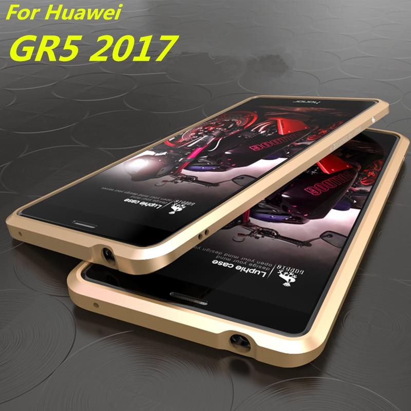 "Цена за Для Fundas Huawei GR5 2017 чехол роскошный люкс ультра тонкий алюминиевый бампер для Huawei GR5 2017 (Huawei Honor 6X) 5.5"""