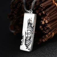 100% Pure S990 Sterling Silver Lotus Flower Buddha Pendant for Women Men Making Original Thai Silver Pendants Fine Jewelry Gifts