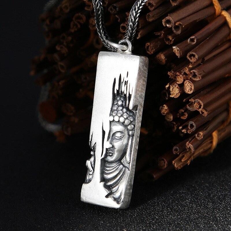 100% pur S990 en argent Sterling Lotus fleur bouddha pendentif pour les femmes hommes faisant Original Thai argent pendentifs beaux bijoux cadeaux
